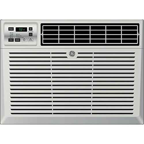 "GE AEM08LX 19"" Window Air Conditioner with 8000 Cooling BTU  Energy Star Qualified in Light Cool Gray - B07BBWD53D"