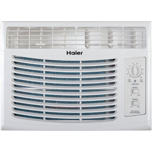 Haier HWF05XCL-L 5 000 BTU 115V Window-Mounted Air Conditioner with Mechanical Controls - B00BDRXN30