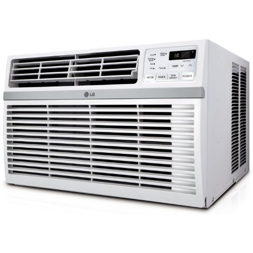 LG Energy Star Qualified 18 000 BTU Window-Mounted Air Conditioner (230V Plug) Cools Rooms Up To 1000 Sq Ft. with 3 Cooling Speeds  12 Hour On/Off Timer  Anti-Corrosion Coating  Remote Included - B00JMHRHPI