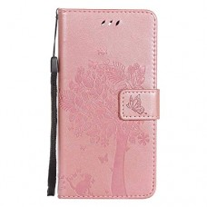 LG K10 2017 Wallet Case  UNEXTATI Leather Flip Cover Case with Kickstand Feature for LG K10 2017 (Rose Gold #13) - B07GGYTYNS
