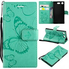 Sony Xperia XZ1 Compact Case  UNEXTATI Sony Xperia XZ1 Compact Flip Folio PU Leather Wallet Case with Magnetic Closure for Sony Xperia XZ1 Compact (Green #2) - B07GVBTNDD