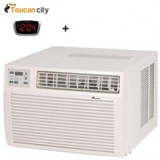 Toucan City LED Alarm Clock and Amana 9 000 BTU R-410A Window Heat Pump Air Conditioner with 3.5 kW Electric Heat and Remote AH093G35AX - B07G9ZJKTC