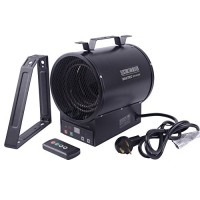 PROWARM Electrical Forced Air Industrial Fan Heater 240V Shop Garage 2400/4800W Heater with Remote Control and Bracket - B07D11XLJ1
