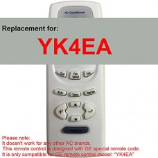 Replacement for GE Air Conditioner Remote Control Model Number YK4EA Works for AEH18DL AEH18DLG1 AEH18DM AEH18DMG1 AEH24DJ AEH24DJH1 AEH24DK AEH24DKH1 AEH25DL AEH25DLH1 AEH25DM AEH25DMH1 AEM14AM - B071SJDJJ9