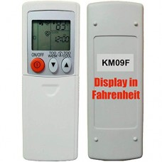 Replacement for Mitsubishi Electric Mr Slim Air Conditioner Remote Control KM09F (Display in Fahrenheit Only!!!) - B07BJGX5PG
