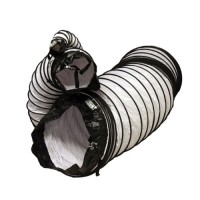 "Rubber-Cal ""Air Ventilator White"" Ventilation Duct Hose (Fully Stretched)  12-Inch by 25-Feet - B006X6D1G0"