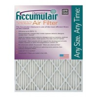 17-1/4x29-1/4x1 (Actual Size) Accumulair Diamond Filter MERV 13 4-Pack - B009G0P1UO