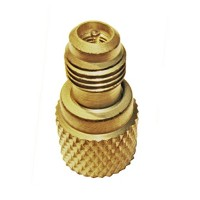 R410 Mini-Split Charging Adaptor 5/16 Female X 1/4 Male with Valve Core and Depressor. RCONT-1 - B07BVLPVR2