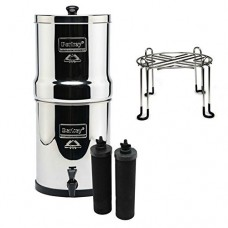 Royal Berkey Stainless Steel Water Filtration System with 2 Black Filter Elements and Stainless Steel Wire Stand by Berkey - B01MSPN2IK
