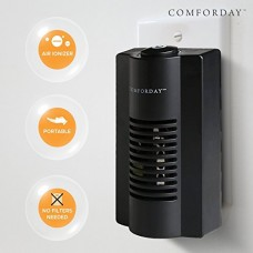 Comforday 2-in-1 Indoor Ionic Air Purifier - Plug-in Odor Eliminator  Air Sanitizer and Odor Reducer with Night Light - B06Y4BX8C5
