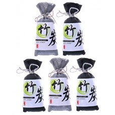 5 Pack Natural Air Purifying Bamboo Charcoal Bags Removes Odors Harmful Allergens Reusable and Non Toxic Air Freshener (5x100 g) - B0773J9F3V