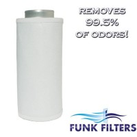 "Funk Filters 6"" x 24"" Activated Carbon Scrubber Odor Control Filters + Prefilter - B0056AM1UQ"
